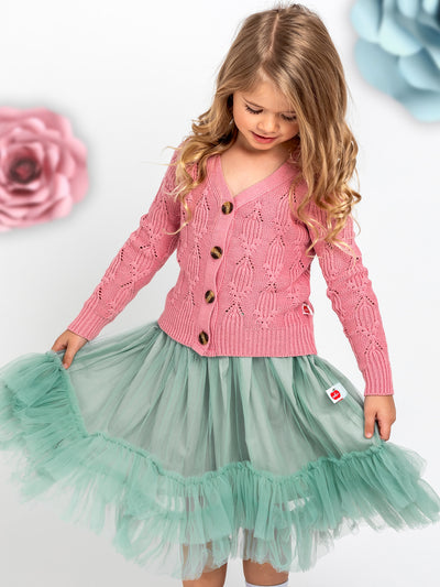 Pink cardigan for girls