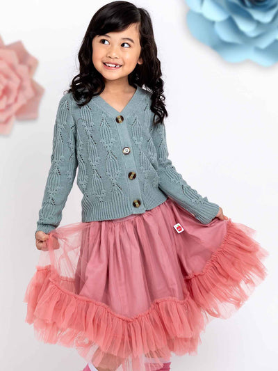 Pink tulle skirt for girls