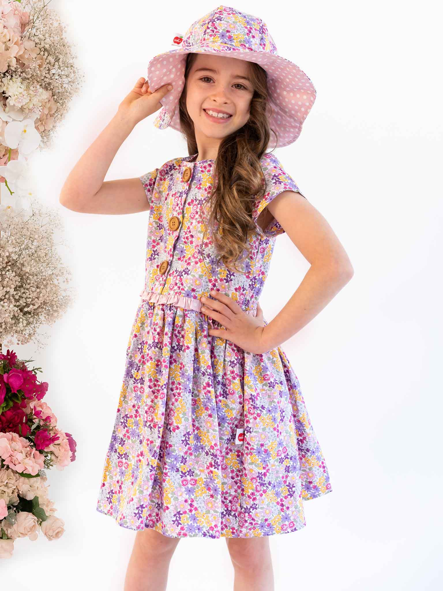Purple flower Jacaranda dress