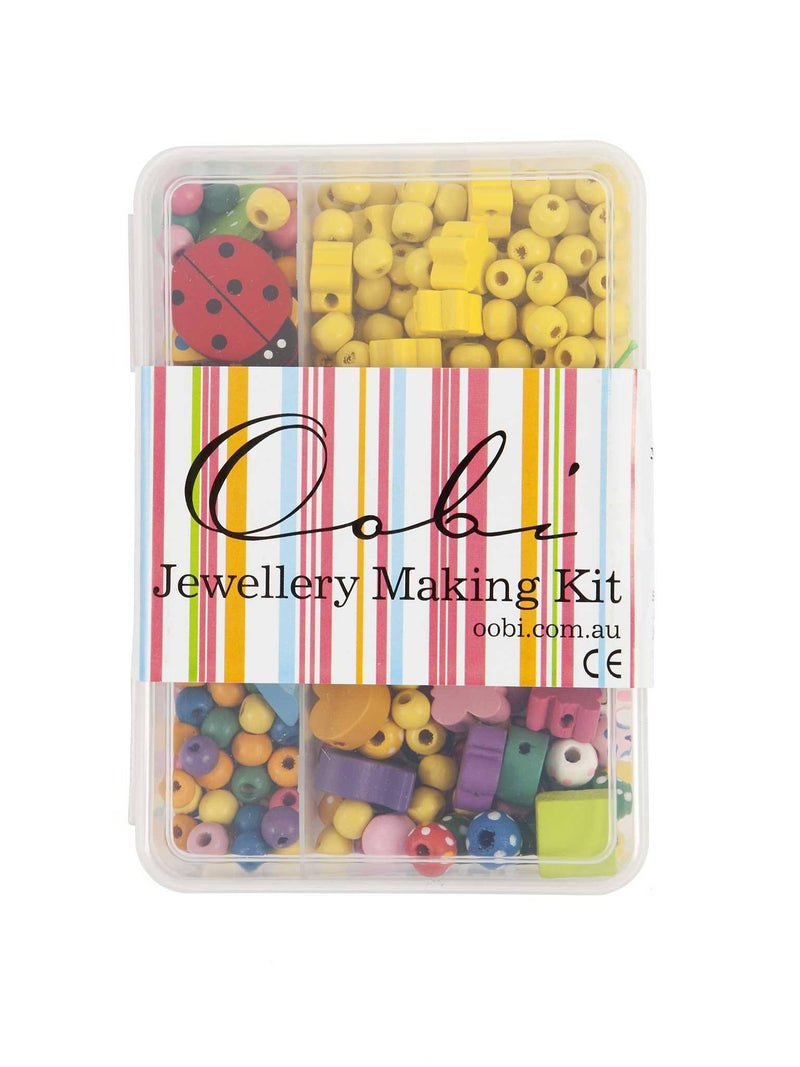 Small Jewellery Kit Yellow Beads, Accessories - Oobi Girls Kid Fashion