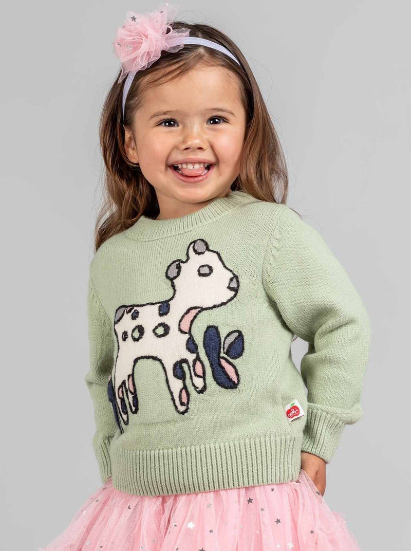 Lambykins Sweater Grassy Green