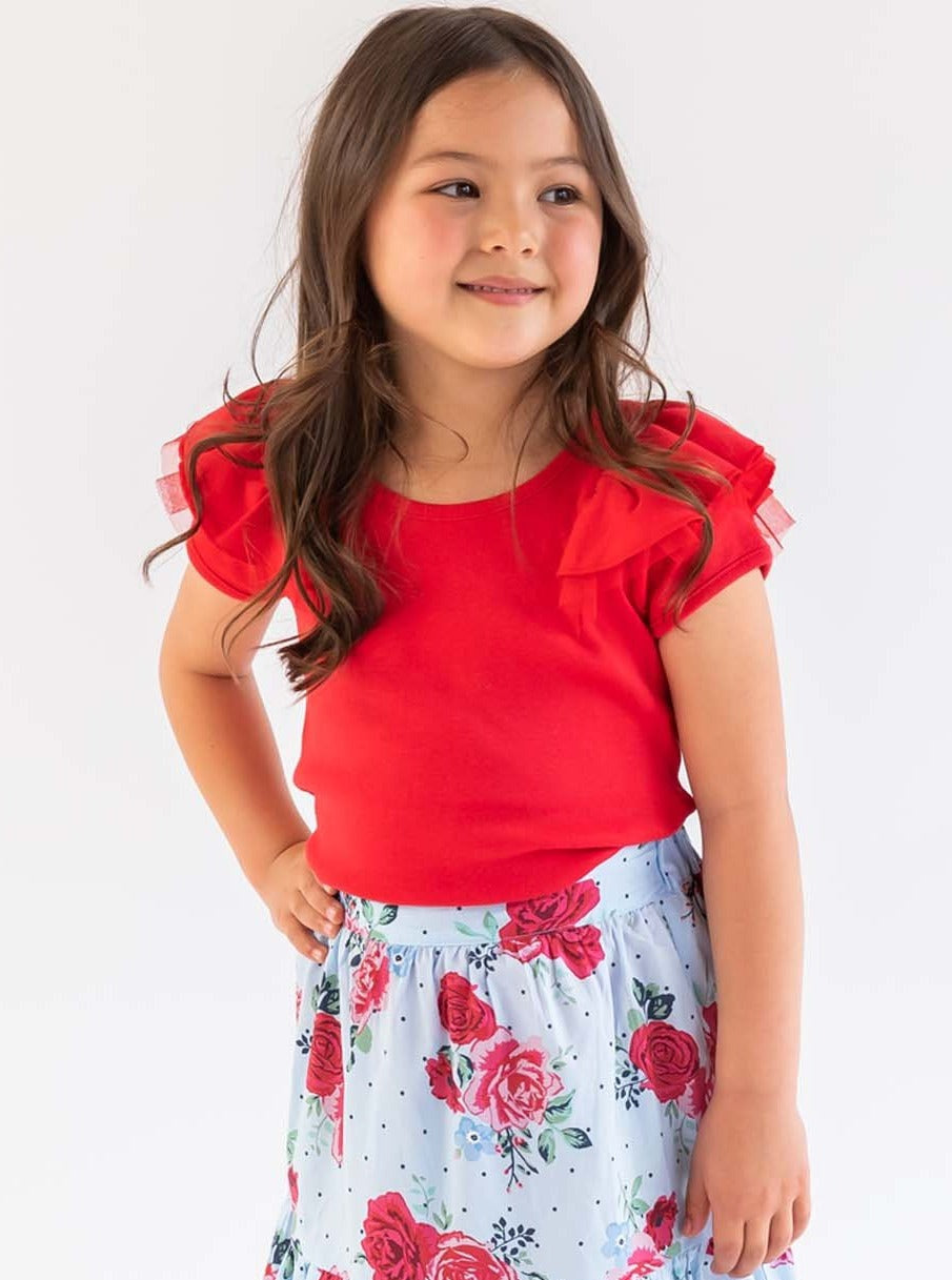 Sweetheart Short Sleeved Tee Ruby Red