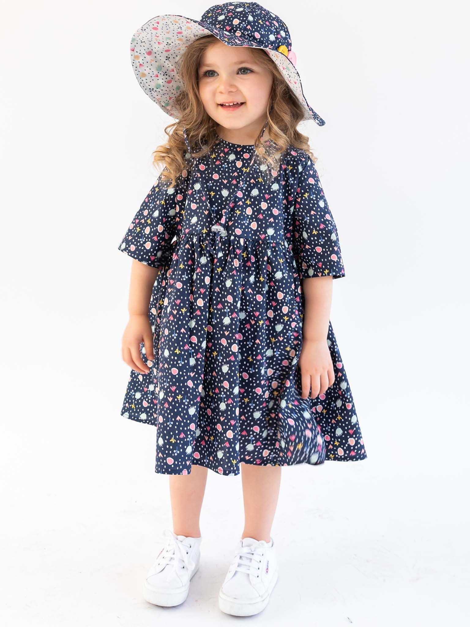 Uma Navy Jumble Dress