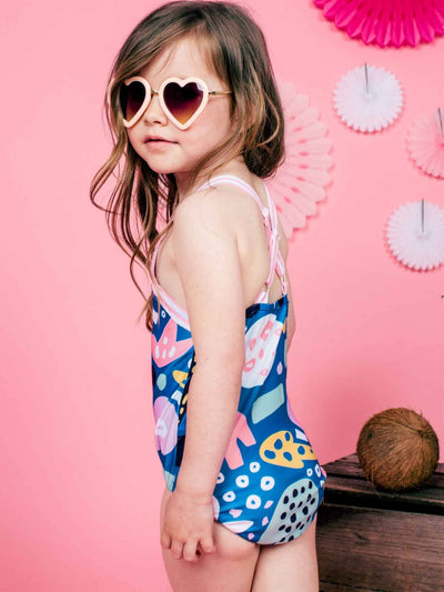 Penny Swimsuit Jungle, Swim - Oobi Girls Kid Fashion
