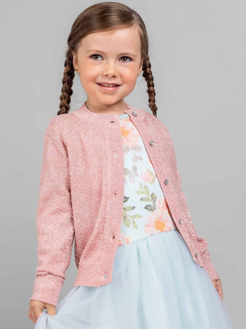 Arden Long Sleeved Dress Icy Watercolour, Dresses - Oobi Girls Kid Fashion