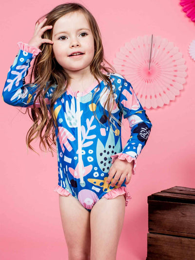 Stella Swimsuit Jungle, Swim - Oobi Girls Kid Fashion