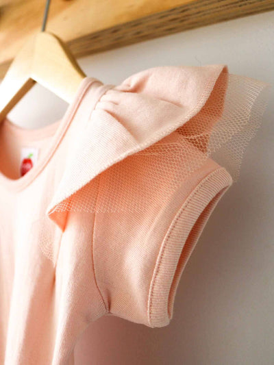 Sweetheart Short Sleeved Tee Sherbet Pink, Tops - Oobi Girls Kid Fashion