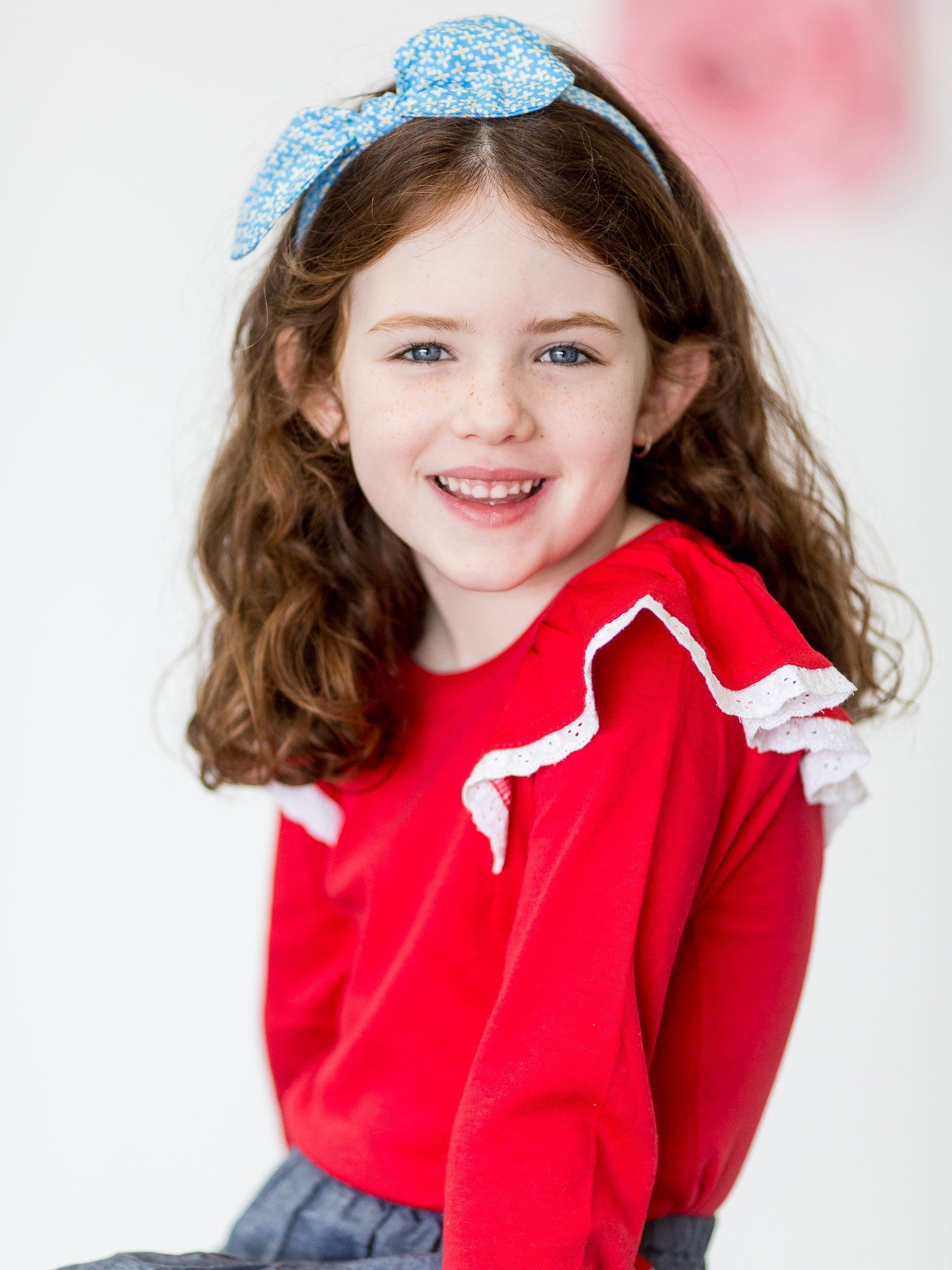 Flutter Long Sleeve Tee Red, Tops - Oobi Girls Kid Fashion