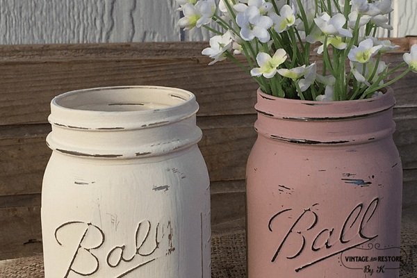How to Paint Glass Jars {and other slick surfaces}