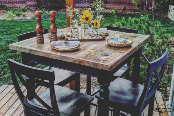 Rustic Painted Furniture: High Top Table Redo