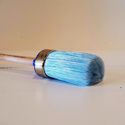 Synthetic Blue Bristle Furniture Paint Brush - Large {CLEARANCE} - Vintage And Restore By K
