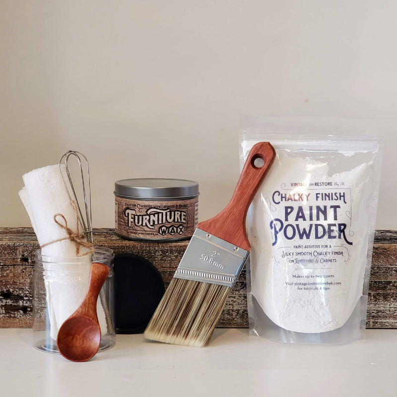 Chalky Finish Paint Powder - Essentials Starter Kit - Vintage And Restore By K