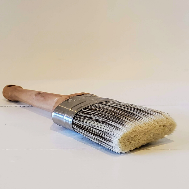 1.5 Round Synthetic Bristle Wax Brush for Applying Furniture Wax to Painted or Raw Wood Furniture