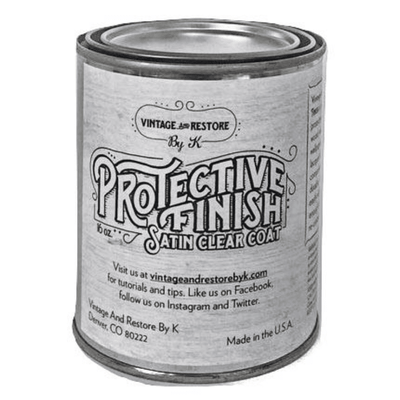 Protective Finish Clear Satin Top Coat - Vintage And Restore By K