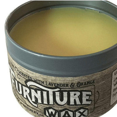 All Natural Clear Furniture Wax - Scented or Unscented - Vintage And Restore By K