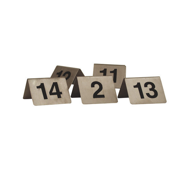 Table Number Set Stainless Steel A Frame - Stainless steel table numbers