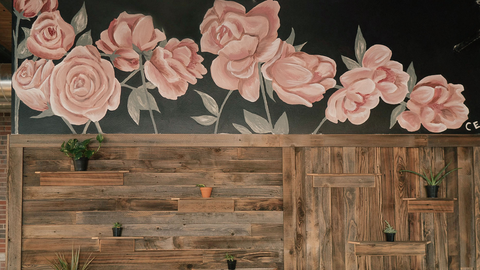 Floral Luckyleo Headquarters Mural