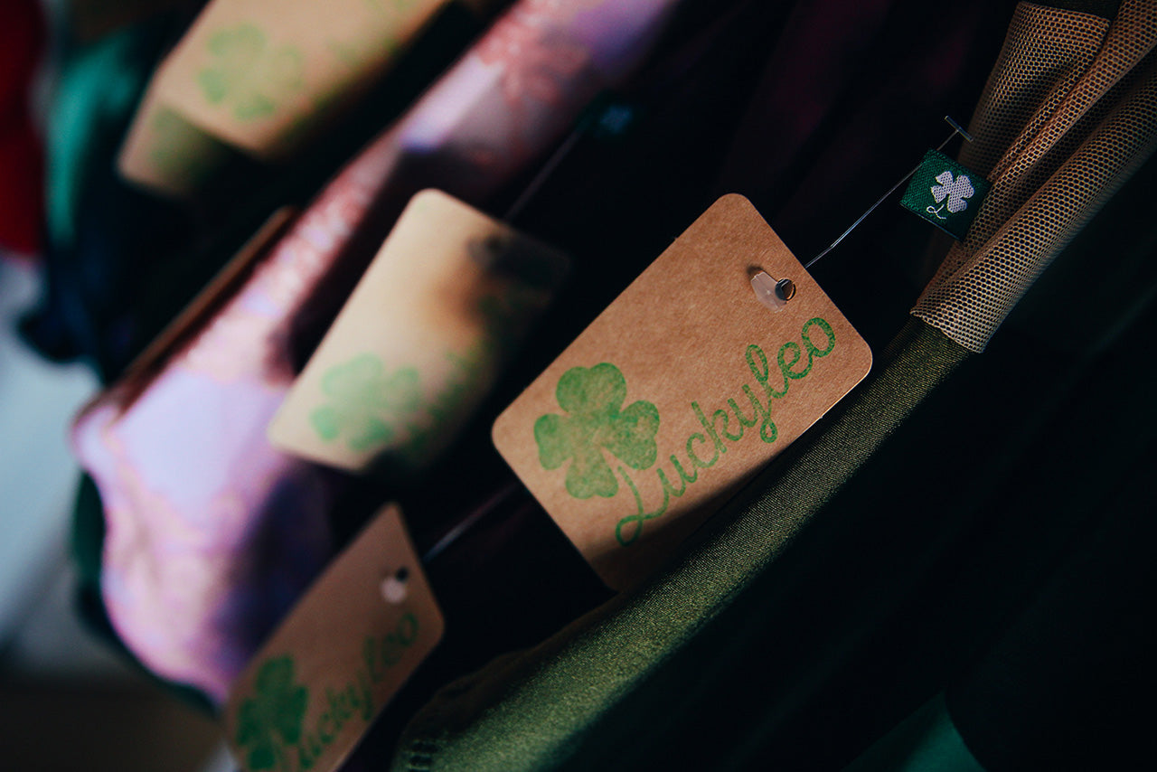 Luckyleo Leotard Rack with Hand Stamped Tags - Photos From The Shop
