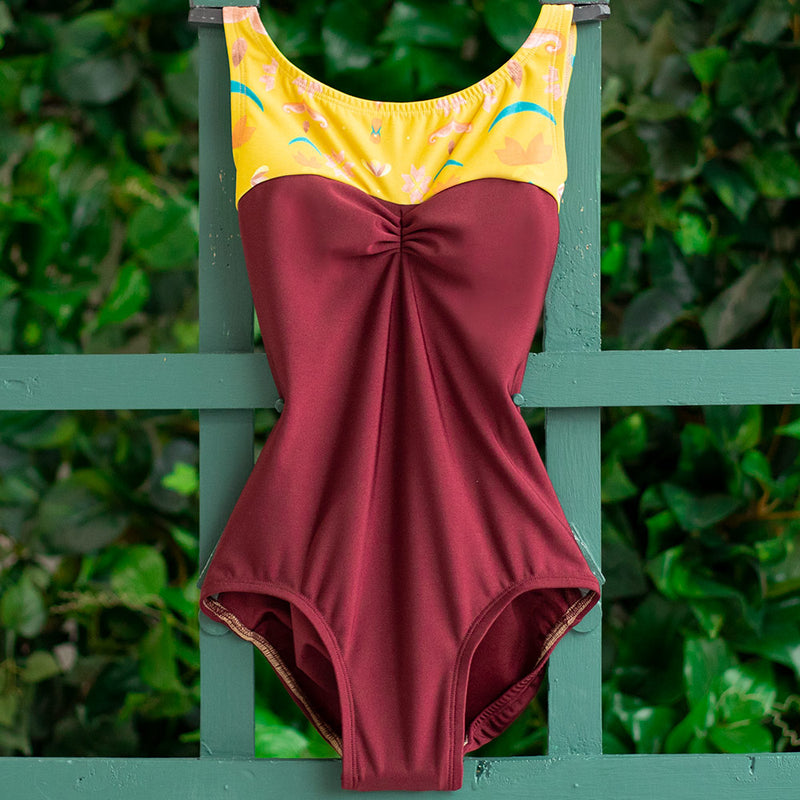 LARGE BURGUNDY & HONE TAPESTRY SPANDEX ACORN<br> READY TO SHIP