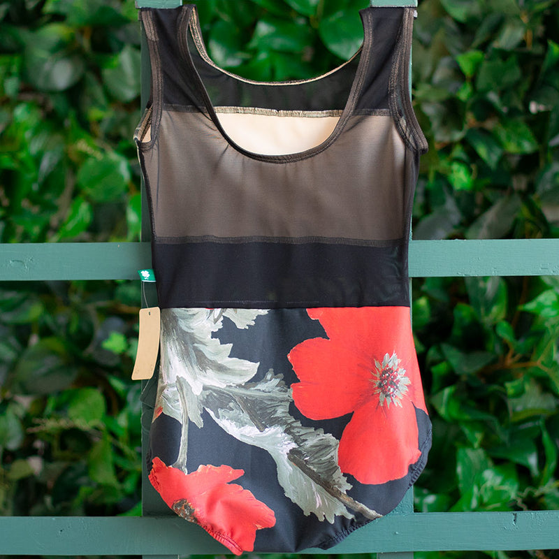 LARGE POPPY & BLACK MESH SPICE <br> READY TO SHIP