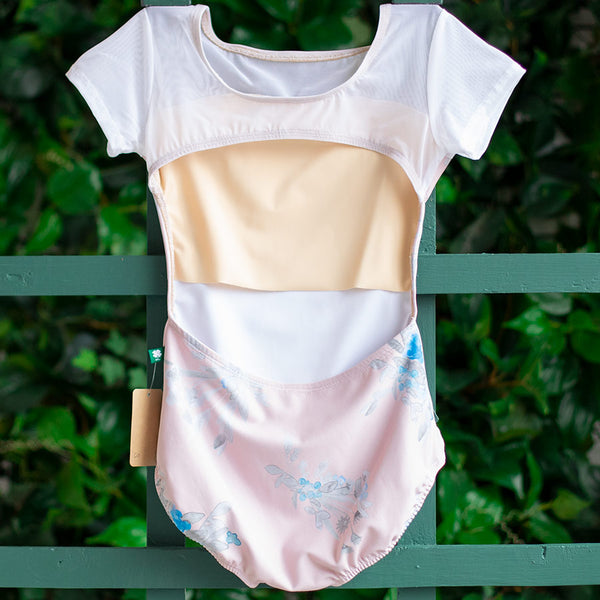 EXTRA SMALL PINK COTTAGE & WHITE MESH CAP SLEEVE PHOENIX <br> READY TO SHIP