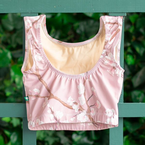 SMALL DUSTY ROSE CHERRY BLOSSOM FLIGHT TOP <br> READY TO SHIP