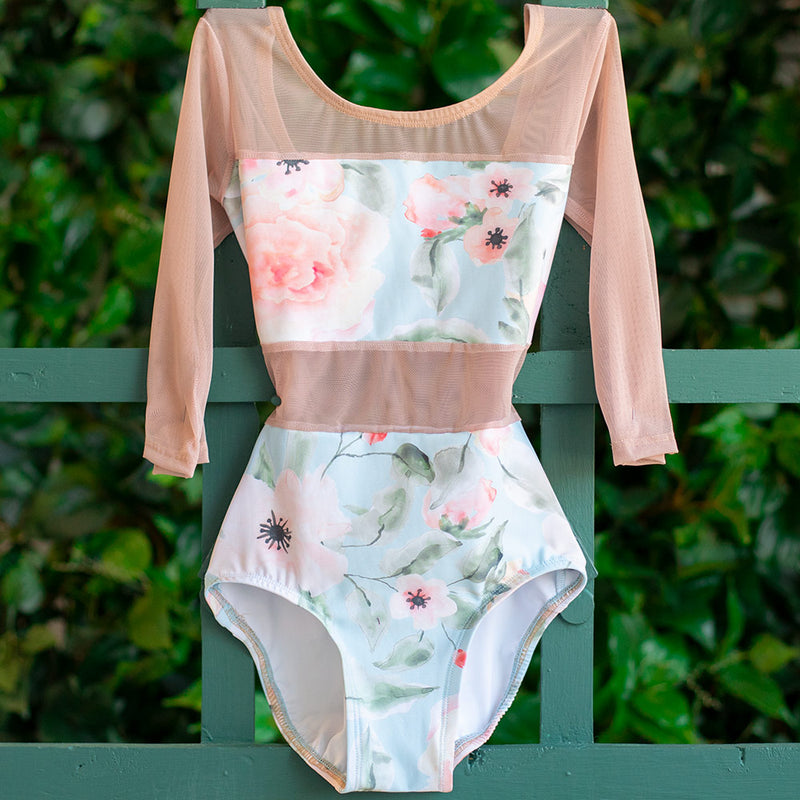 EXTRA EXTRA SMALL WALTZ & DUSTY ROSE MESH 3/4 SLEEVE SPICE <br> READY TO SHIP