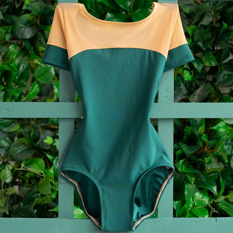EXTRA EXTRA SMALL EMERALD & CHESTNUT MESH GLAMOUR <br> READY TO SHIP