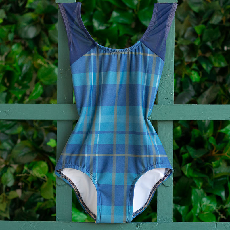 SMALL NAVY PLAID & NAVY MESH BLISS <br> READY TO SHIP