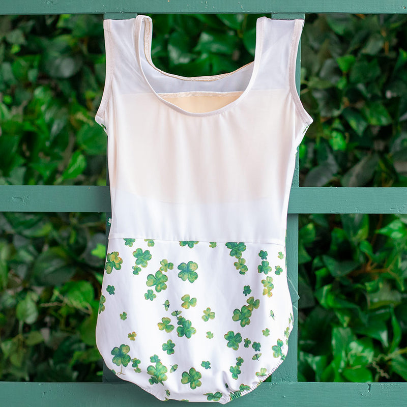 SMALL LUCKY CLOVER & WHITE MESH TRANSCENDENCE <br> READY TO SHIP