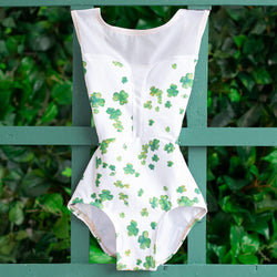 SMALL LUCKY CLOVER & WHITE MESH INTRIGUE <br> READY TO SHIP