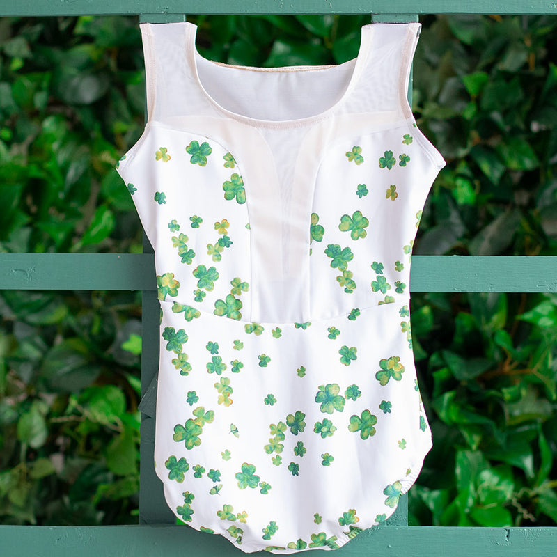 LARGE LUCKY CLOVER & WHITE MESH INTRIGUE <br> READY TO SHIP