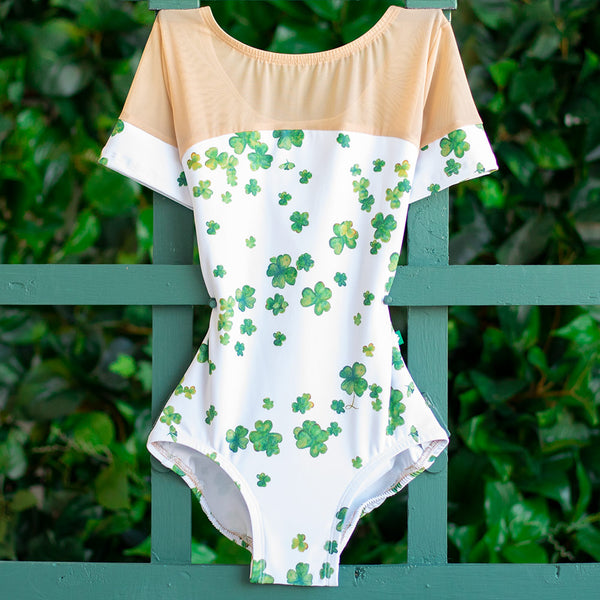 EXTRA EXTRA SMALL LUCKY CLOVER & ALMOND MESH GLAMOUR <br> READY TO SHIP