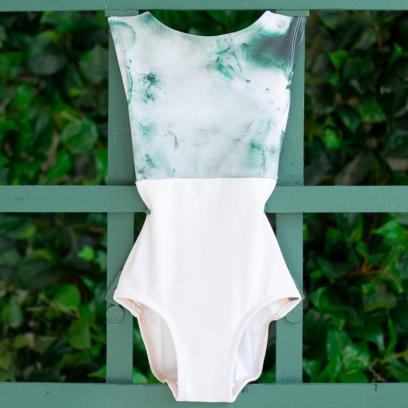 EXTRA SMALL WHITE & EMERALD CLOUD FRONT LINED FLIGHT<br> READY TO SHIP