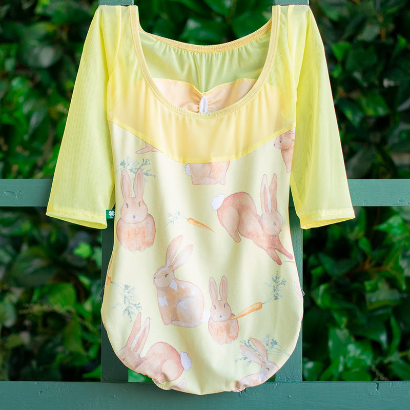 SMALL SUNSHINE COTTONTAIL & SUNSHINE MESH 3/4 SLEEVE ACORN<br> READY TO SHIP