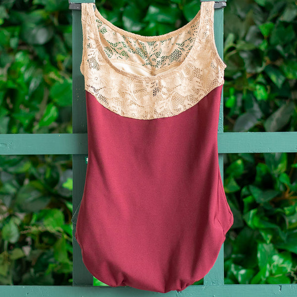 EXTRA EXTRA SMALL BURGUNDY & ALMOND LACE ACORN<br> READY TO SHIP