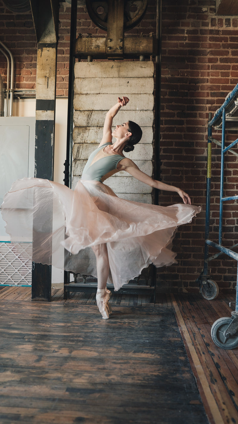 Luckyleo Silk Organza ATHENA Ballet Skirt on Sarah Tryon