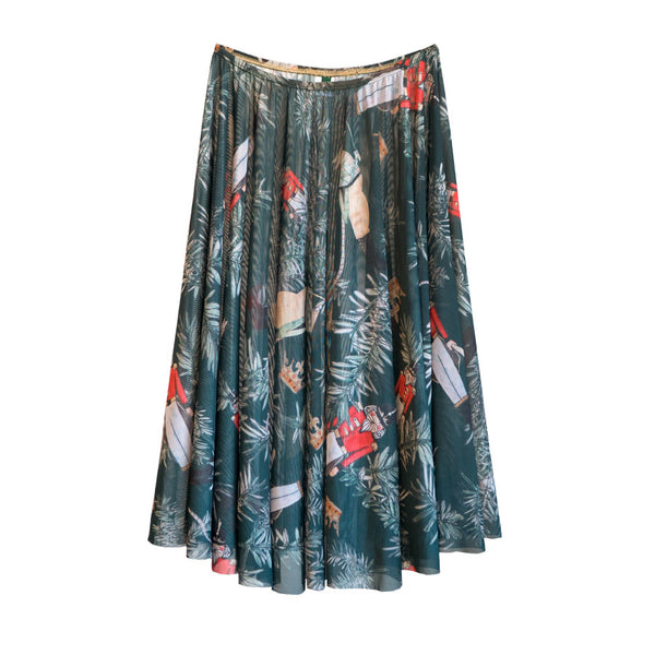 EMERALD BATTLE SCENE RHEA <BR> NUTCRACKER COLLECTION SKIRT