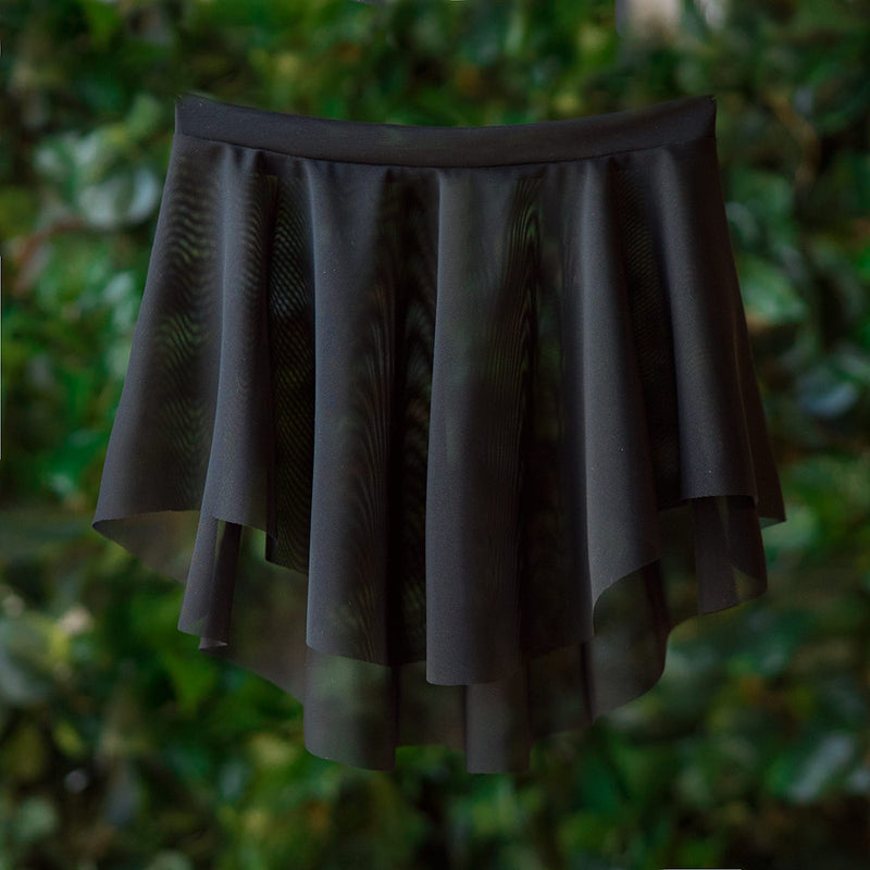 EOS <BR> BLACK MESH SKIRT