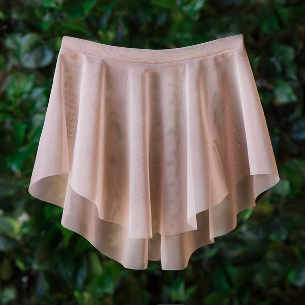 EOS <BR> DUSTY ROSE MESH SKIRT