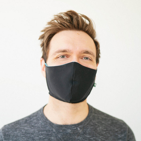 IN STOCK Luckyleo Barrier Mask <BR> Black <BR> Ready to Ship