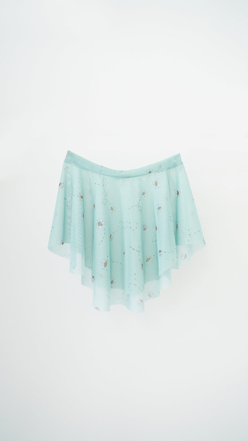 HAND PAINTED EOS BUZZZZ PRINT SKIRT