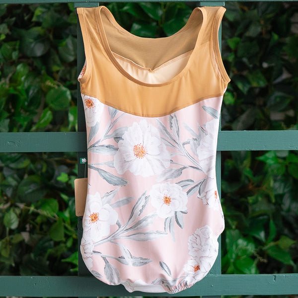 SMALL ROSE CAMELLIA & TAN NUDE MESH BREEZE <br> READY TO SHIP