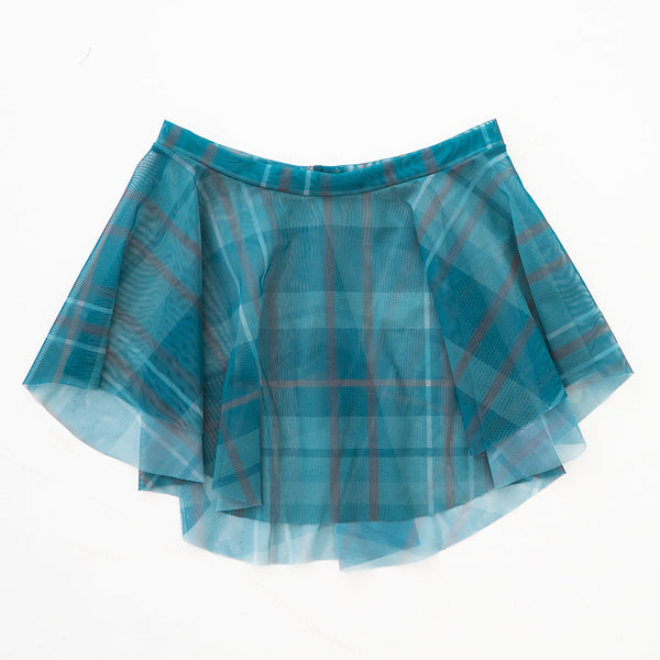 EMERALD PLAID PRINT EOS SKIRT