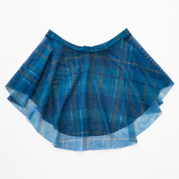NAVY PLAID PRINT EOS SKIRT
