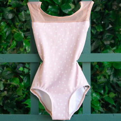 MEDIUM PINK POLKA DOT & DUSTY ROSE MESH TRANSCENDENCE <br> READY TO SHIP