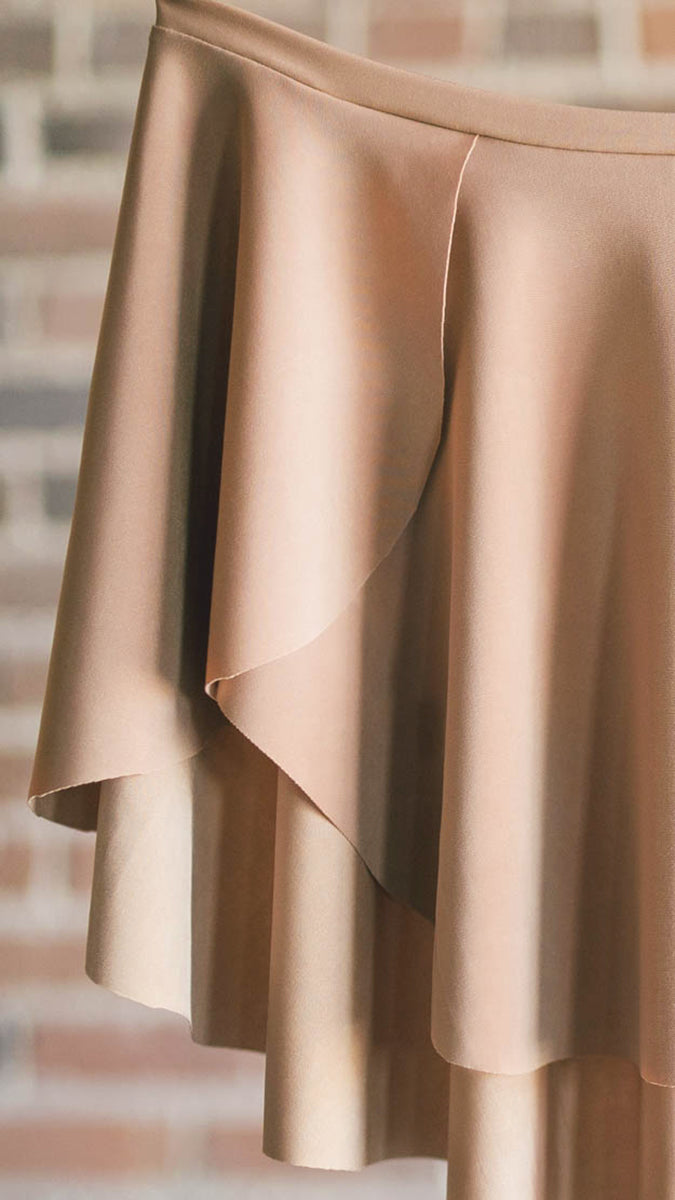 tan ballet skirt from luckyleo dancewear for ballet dancers
