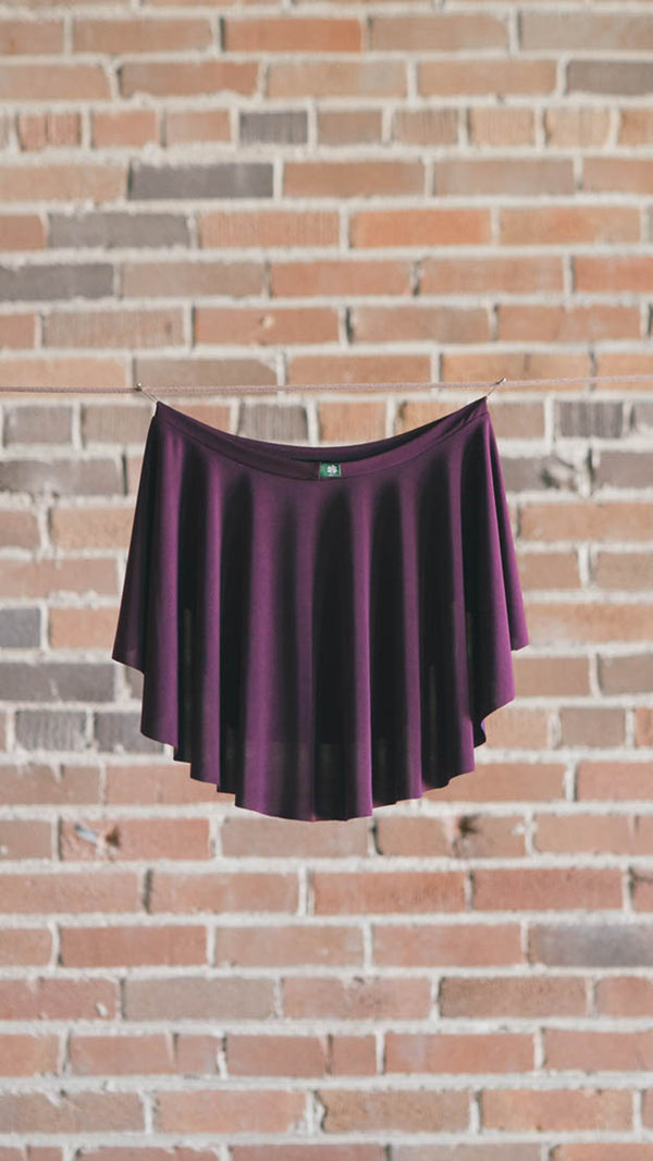 Back view of DIANA ballet skirt from Luckyleo Dancewear