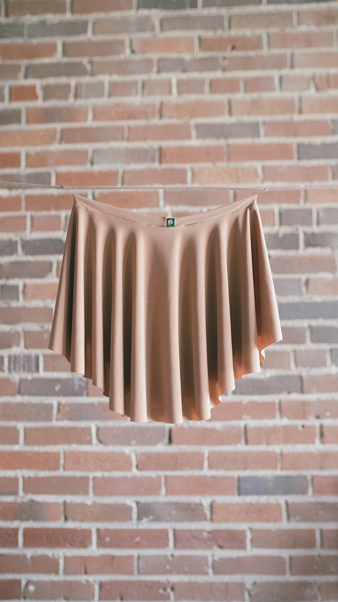 tan luckyleo ballet skirt in the EOS style back