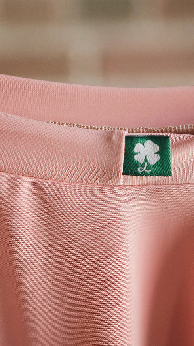 luckyleo dancewear pink ballet skirt detail